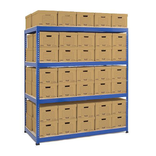 Rapid 1 Double Sided Archive Storage with 100 Boxes