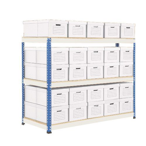 Rapid 1 Double Sided Archive Bay with 50 Boxes