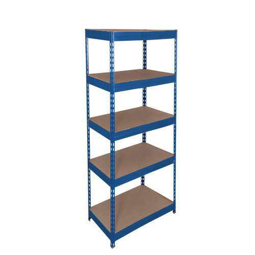 Rapid 1 Shelving (1980h x 915w) Blue - 5 Chipboard Shelves