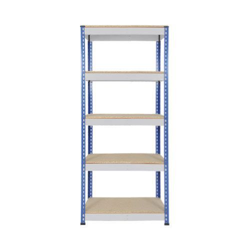Rapid 1 Shelving (1980h x 915w) Blue & Grey - 5 Chipboard Shelves