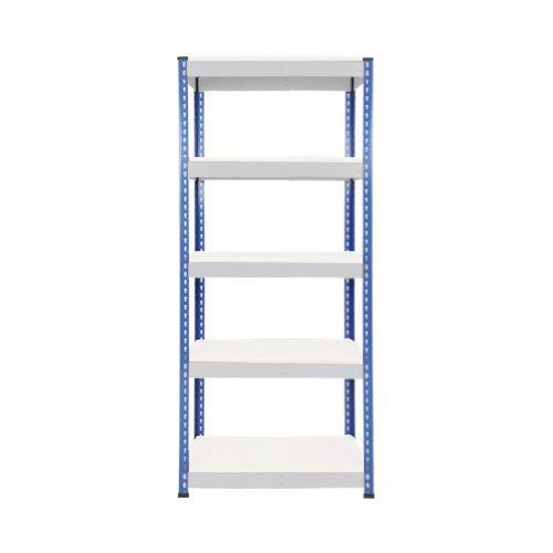 Rapid 1 Shelving (1980h x 915w) Blue & Grey - 5 Melamine Shelves