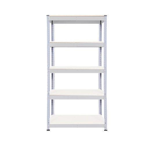 Rapid 1 Shelving (1980h x 915w) Grey - 5 Melamine Shelves