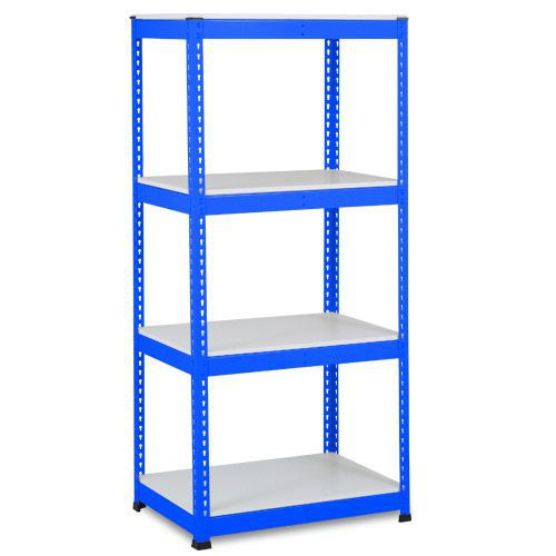 Rapid 1 Shelving (1980h x 915w) Blue - 4 Melamine Shelves