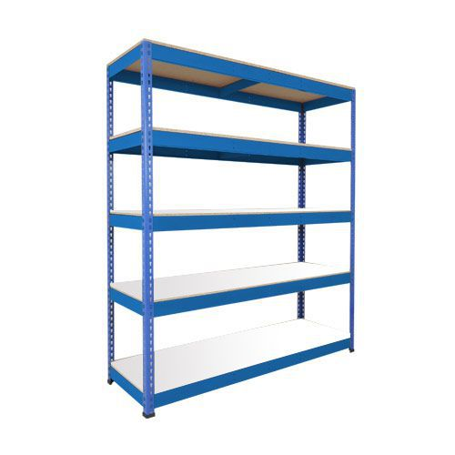 Rapid 1 Shelving (1980h x 1525w) Blue - 5 Melamine Shelves
