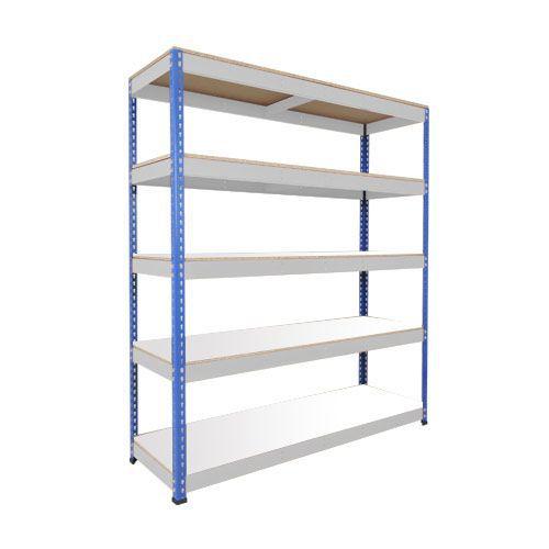 Rapid 1 Shelving (1980h x 1525w) Blue & Grey - 5 Melamine Shelves