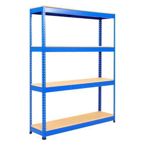 Rapid 1 Shelving (1980h x 1525w) Blue - 4 Chipboard Shelves