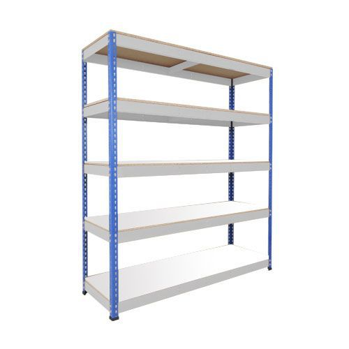 Rapid 1 Shelving (1980h x 1830w) Blue & Grey - 5 Melamine Shelves