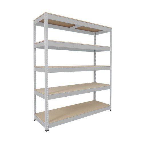 Rapid 1 Shelving (1980h x 1830w) Grey - 5 Chipboard Shelves