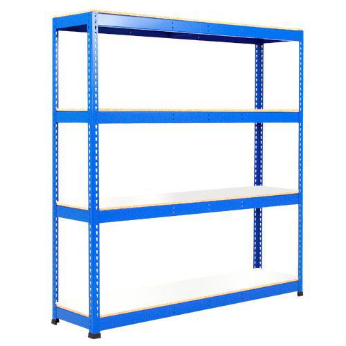 Rapid 1 Shelving (1980h x 1830w) Blue - 4 Melamine Shelves