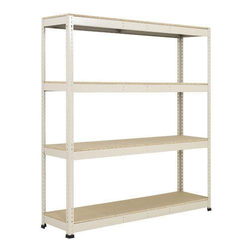 Rapid 1 Shelving (1980h x 1830w) Grey - 4 Chipboard Shelves