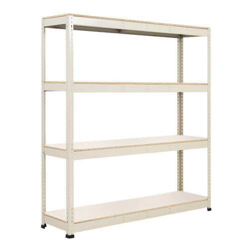 Rapid 1 Shelving (1980h x 1830w) Grey - 4 Melamine Shelves