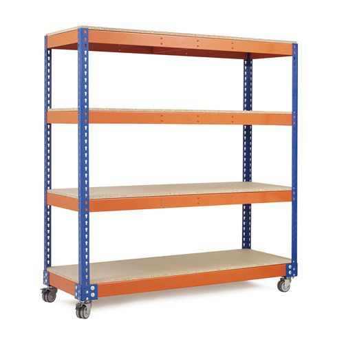 Rapid 1 Trolley (1625h x 1830w) in Blue & Orange