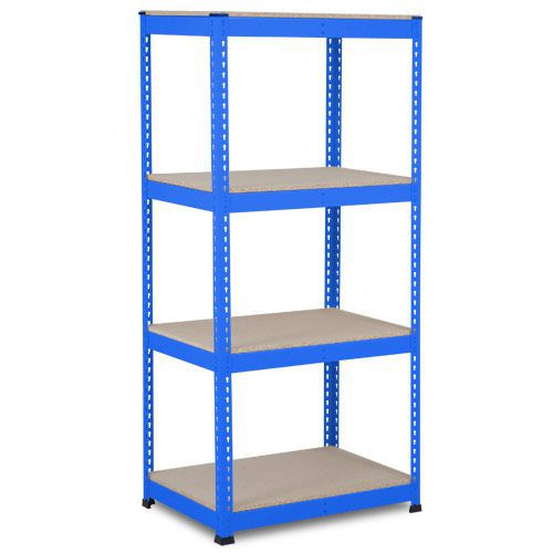 Rapid 1 Heavy Duty Shelving (1980h x 915w) Blue - 4 Chipboard Shelves