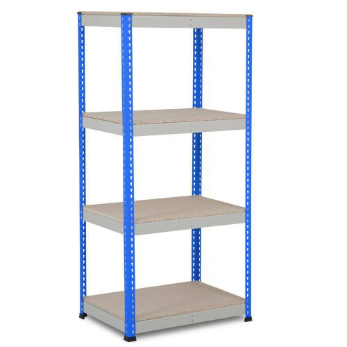 Rapid 1 Heavy Duty Shelving (1980h x 915w) Blue & Grey - 4 Chipboard Shelves