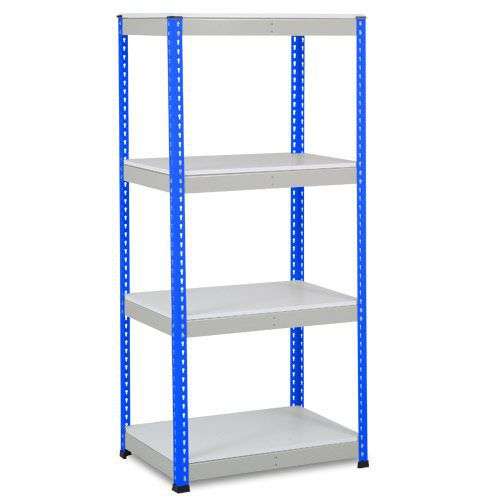 Rapid 1 Heavy Duty Shelving (1980h x 915w) Blue & Grey - 4 Melamine Shelves
