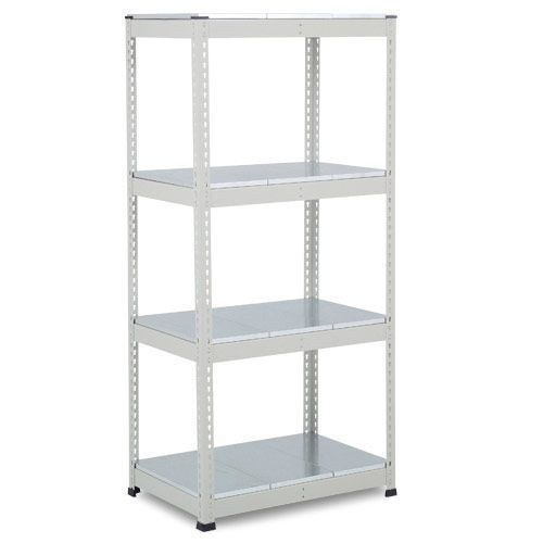 Rapid 1 Heavy Duty Shelving (1980h x 915w) Grey - 4 Galvanized Shelves