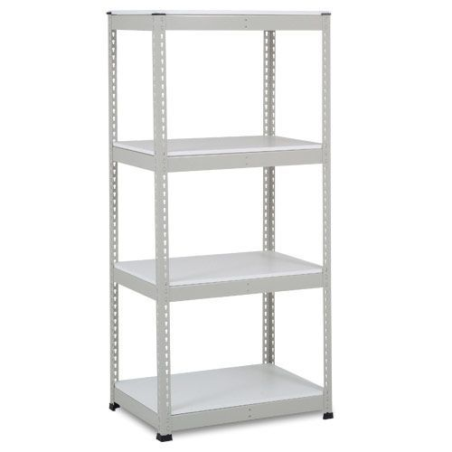 Rapid 1 Heavy Duty Shelving (1980h x 915w) Grey - 4 Melamine Shelves