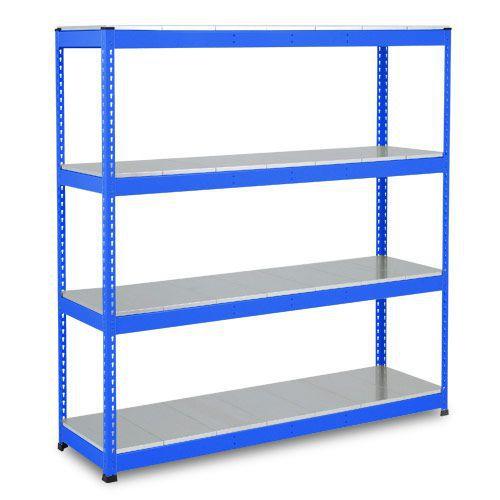 Rapid 1 Heavy Duty Shelving (1980h x 1220w) Blue - 4 Galvanized Shelves
