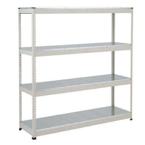 Rapid 1 Heavy Duty Shelving (1980h x 1220w) Grey - 4 Galvanized Shelves