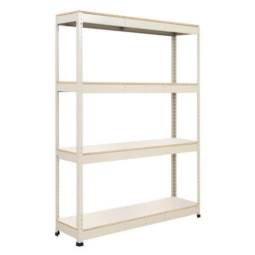 Rapid 1 Galvanized Shelving with 4 Melamine Shelves (1980h x 1220w)