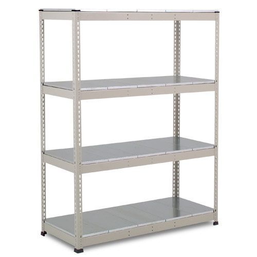Rapid 1 Heavy Duty Shelving (1980h x 1525w) Grey - 4 Galvanized Shelves