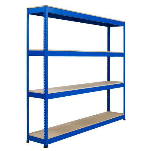 Rapid 1 Heavy Duty Shelving (1980h x 1830w) Blue - 4 Chipboard Shelves