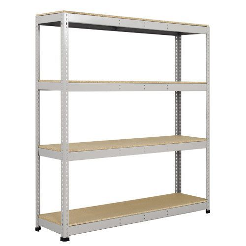 Rapid 1 Galvanized Shelving with 4 Chipboard Shelves (1980h x 1220w)