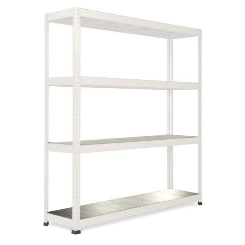 Rapid 1 LightGrey Shelving with 4 Galvanized Shelves (1980h x 1830w)