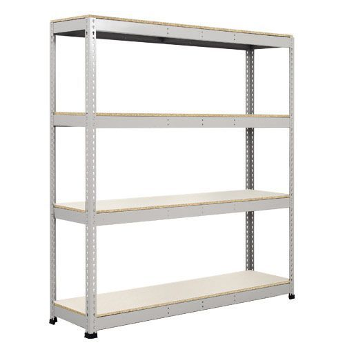 Rapid 1 Galvanized Shelving with 4 Melamine Shelves (1980h x 1830w)