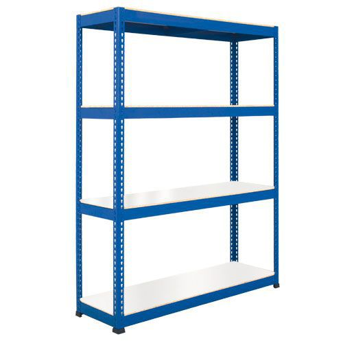 Rapid 1 Heavy Duty Shelving (1980h x 1830w) Blue - 4 Melamine Shelves