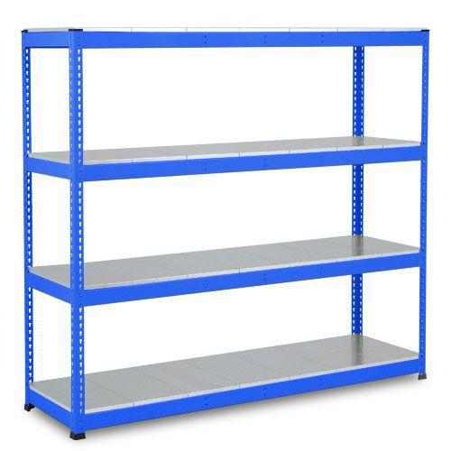 Rapid 1 Heavy Duty Shelving (1980h x 2134w) Blue - 4 Galvanized Shelves