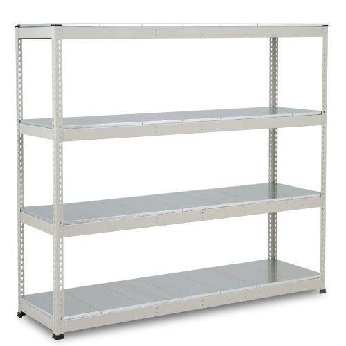 Rapid 1 Heavy Duty Shelving (1980h x 2134w) Grey - 4 Galvanized Shelves