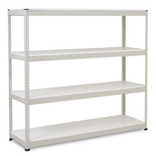 Rapid 1 Heavy Duty Shelving (1980h x 2134w) Grey - 4 Melamine Shelves