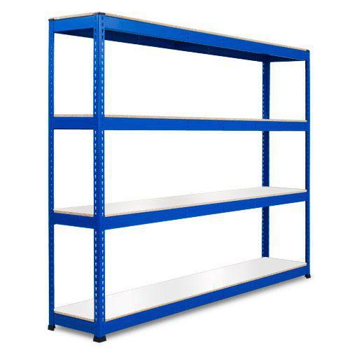 Rapid 1 Heavy Duty Shelving (1980h x 2440w) Blue - 4 Melamine Shelves