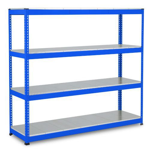 Rapid 1 Heavy Duty Shelving (2440h x 1525w) Blue - 4 Galvanized Shelves