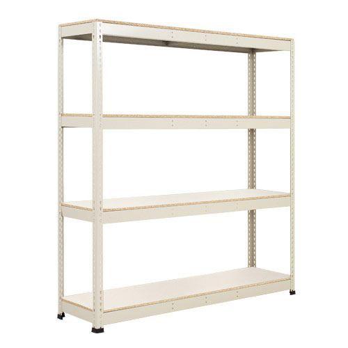 Rapid 1 Heavy Duty Shelving (2440h x 1525w) Grey - 4 Melamine Shelves