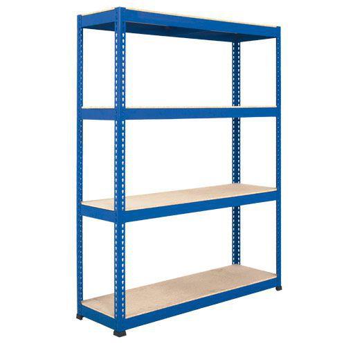 Rapid 1 Heavy Duty Shelving (2440h x 1830w) Blue - 4 Chipboard Shelves