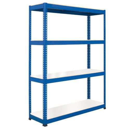 Rapid 1 Heavy Duty Shelving (2440h x 1830w) Blue - 4 Melamine Shelves
