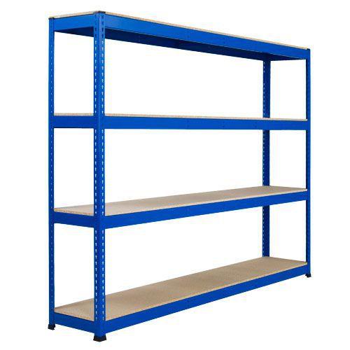 Rapid 1 Heavy Duty Shelving (2440h x 2440w) Blue - 4 Chipboard Shelves