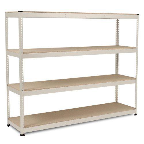 Rapid 1 Heavy Duty Shelving (2440h x 2440w) Grey - 4 Chipboard Shelves