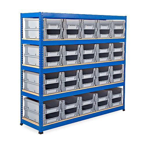 Rapid 1 Shelving (2134w x 610d) With Open Front Euro Containers