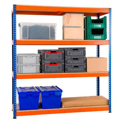 Rapid 1 Shelving - (1980h x 1830w) 4 Shelf Special Offer - Single Bay with 4 Shelves