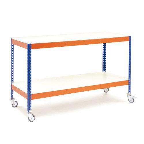 Rapid 1 Mobile Workbench - Melamine Shelves