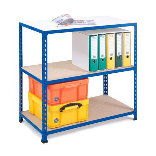 Rapid 2 Shelving (840h x 915w) Blue - 3 Chipboard Shelves