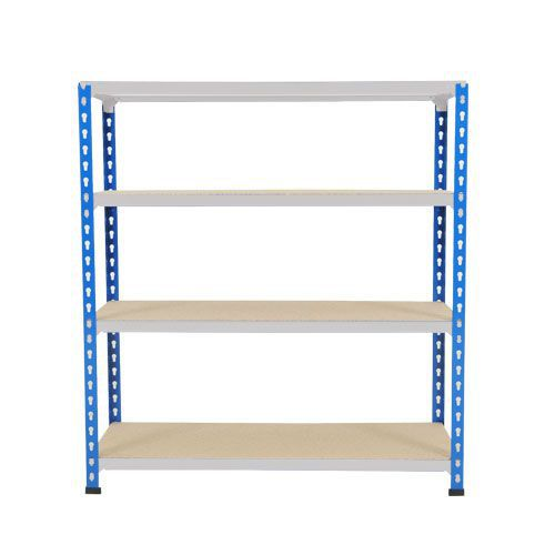 Rapid 2 Shelving (990h x 1220w) Blue & Grey - 4 Chipboard Shelves