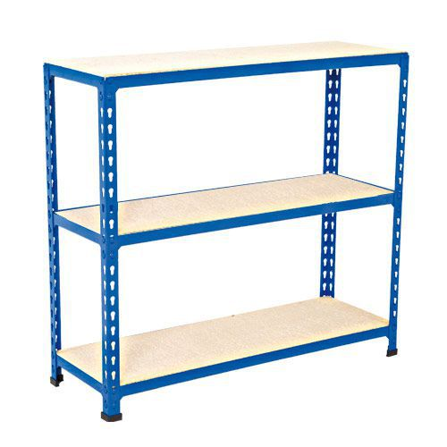 Rapid 2 Shelving (990h x 915w) Blue - 3 Chipboard Shelves