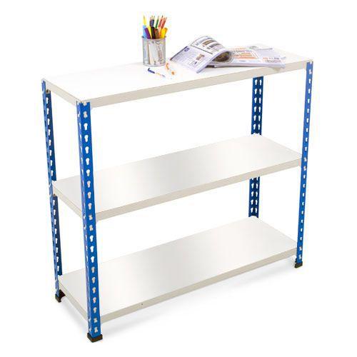 Rapid 2 Shelving (990h x 915w) Blue & Grey - 3 Melamine Shelves