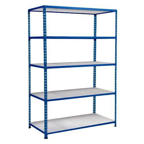 Rapid 2 Shelving (1600h x 1220w) Blue - 5 Galvanized Shelves