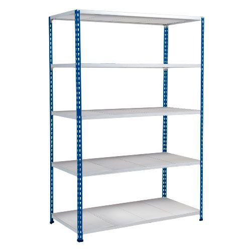 Rapid 2 Shelving (1600h x 1220w) Blue & Grey - 5 Galvanized Shelves