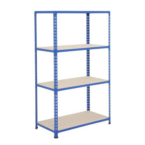 Rapid 2 Shelving (1600h x 915w) Blue - 4 Chipboard Shelves